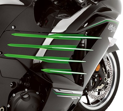 NINJA® ZX™-14R ABS Fairing Trim
