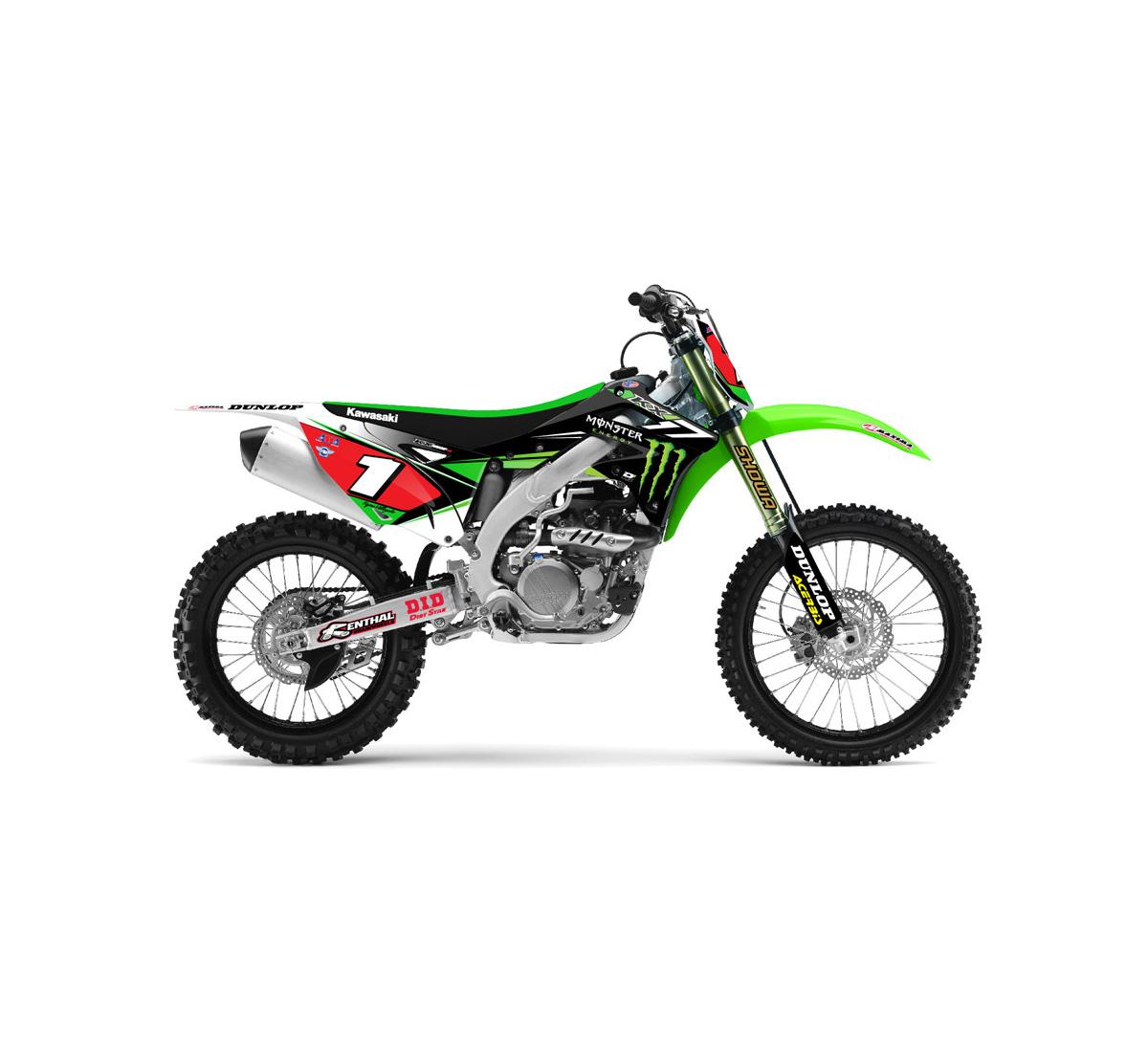 Motorcycle Graphic Kit - 2014 Team Monster Energy® Kawasaki
