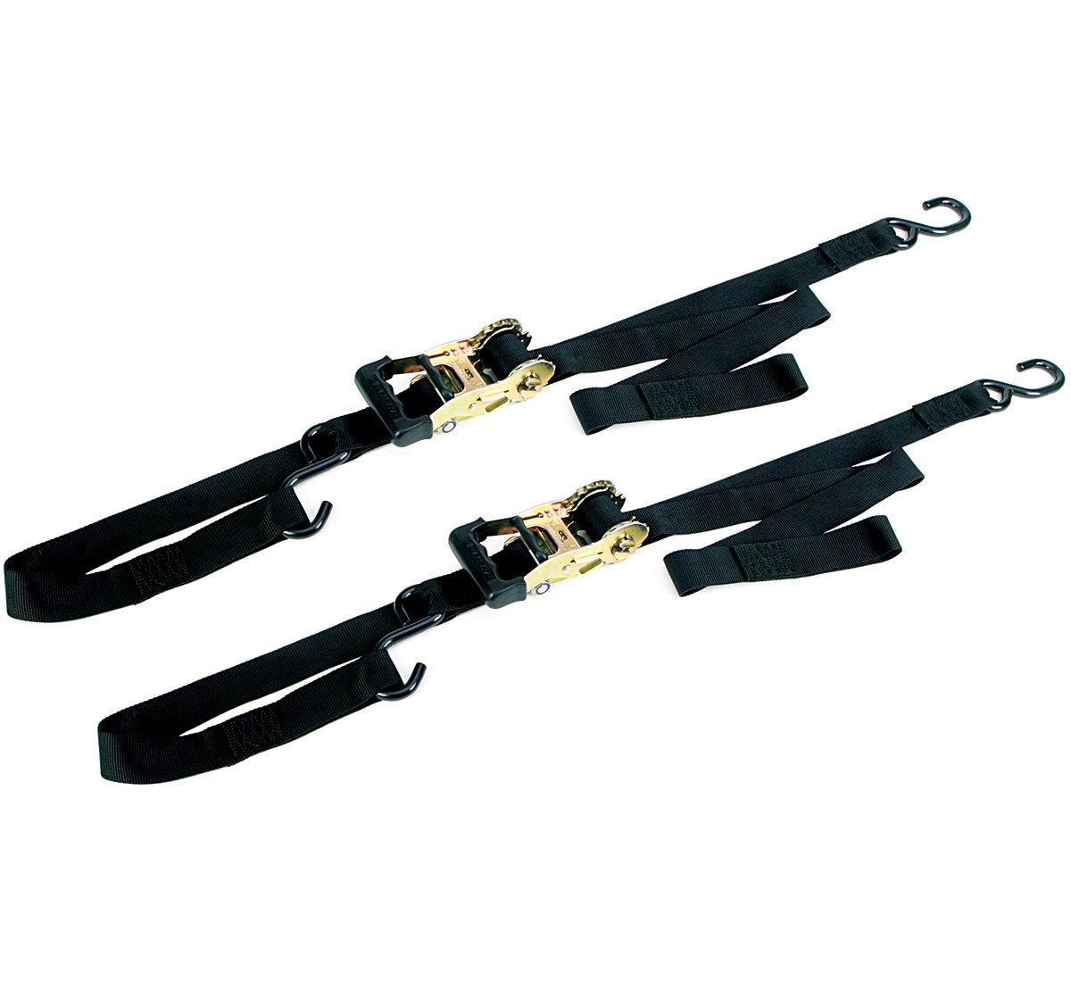 Ancra Big Bike Tie Down Set, Integra Ratchet Buckle, Black