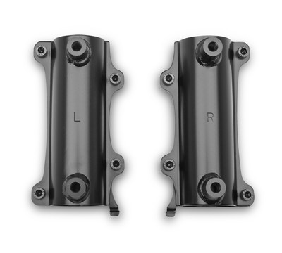 Vulcan® S ABS Fixed Windshield Fork Bracket Kit, Black