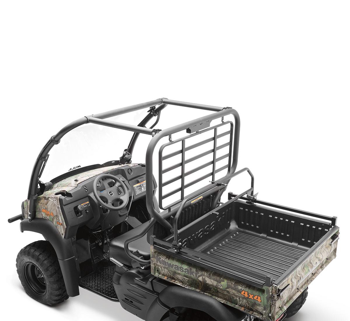 "Kawasaki Mule 610 4010 Overhead Double Gun Rack Adjustable 23/""-28/"" Easy Install"