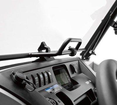 MULE PRO-FXR™ Flip-Up Polycarbonate Windshield