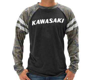 Kawasaki Heritage Camo Logo Long Sleeve T-shirt model