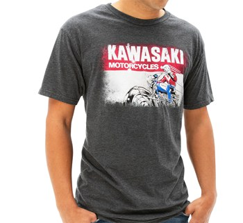 Kawasaki Heritage Logo Old School Sign T-shirt model