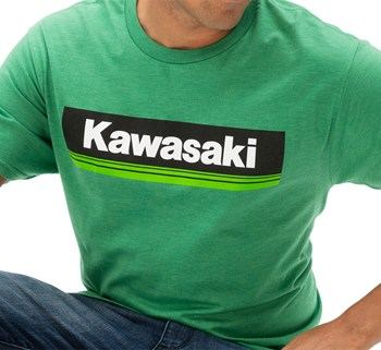 Kawasaki 3 Green Lines T-Shirt model