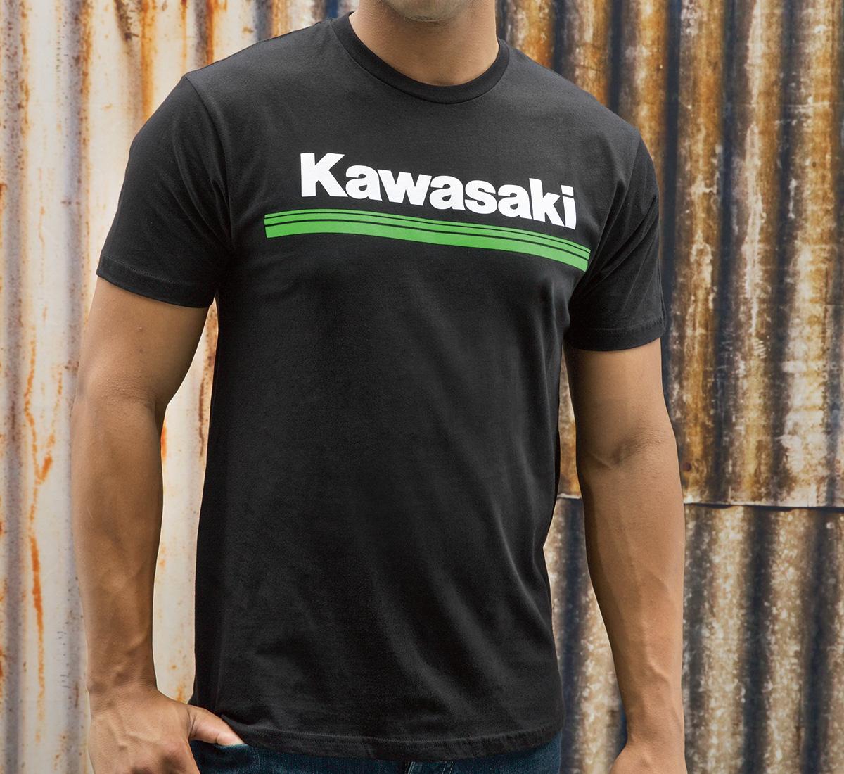 kawasaki 3 green lines t shirt. Black Bedroom Furniture Sets. Home Design Ideas