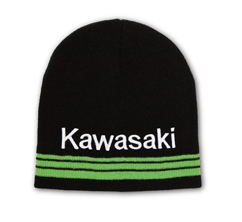 Kawasaki 3 Green Lines Basic Beanie model