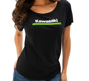 Women's Kawasaki 3 Green Lines Dolman Tee model