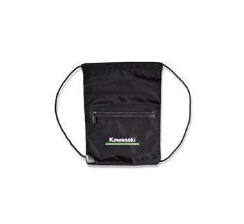 Kawasaki 3 Green Lines Drawstring Pocket Bag model