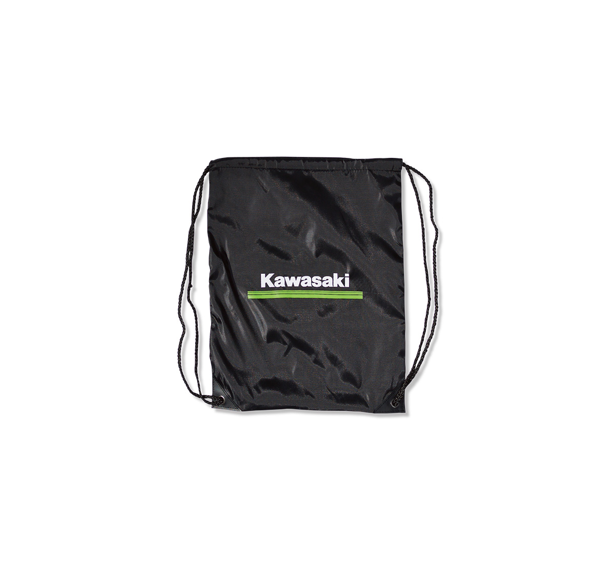 Kawasaki 3 Green Lines Clinch Drawstring Bag