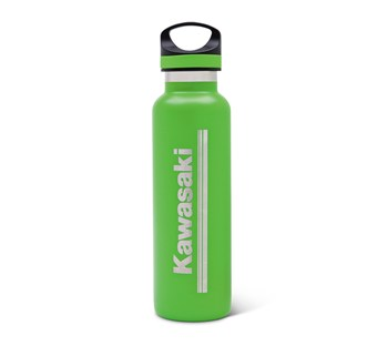 Kawasaki 3 Green Lines Stainless Steel Bottle model