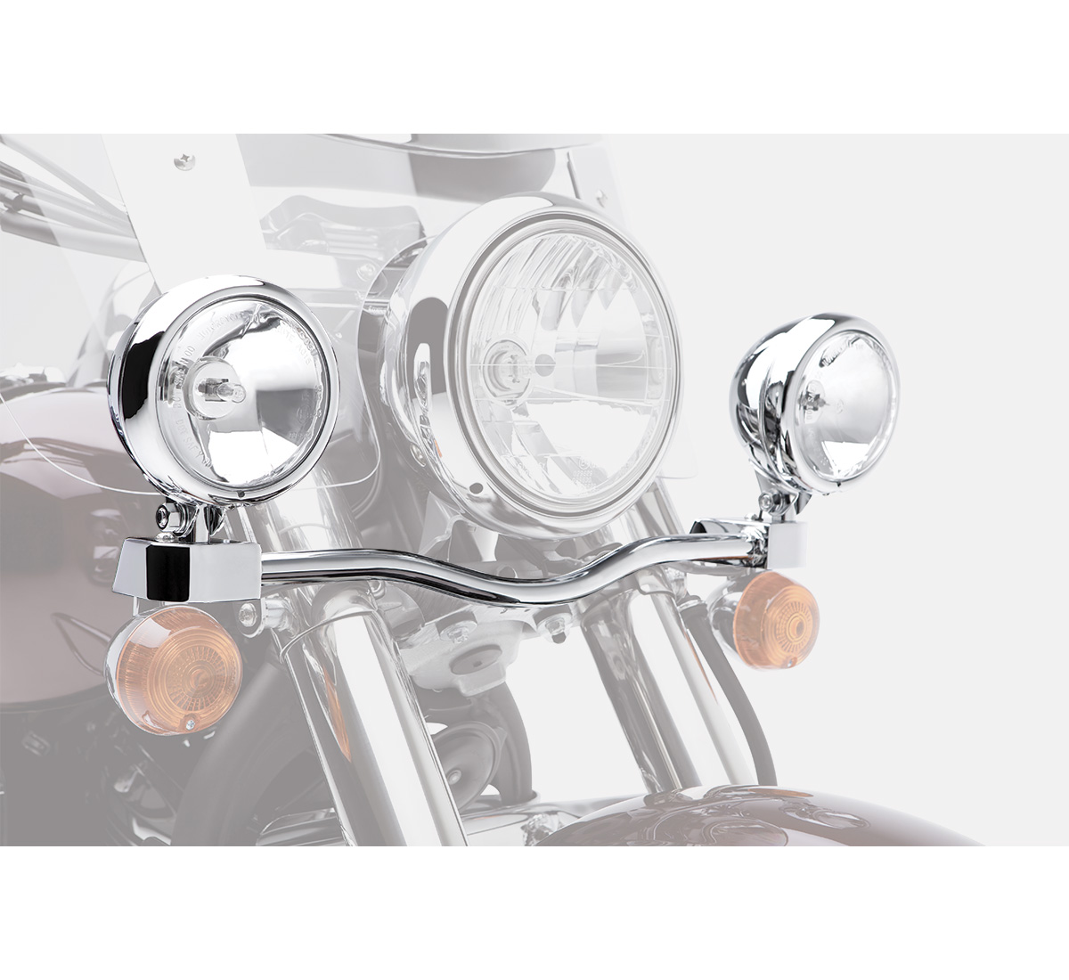 Motorcycle Light Bar - Chrome on