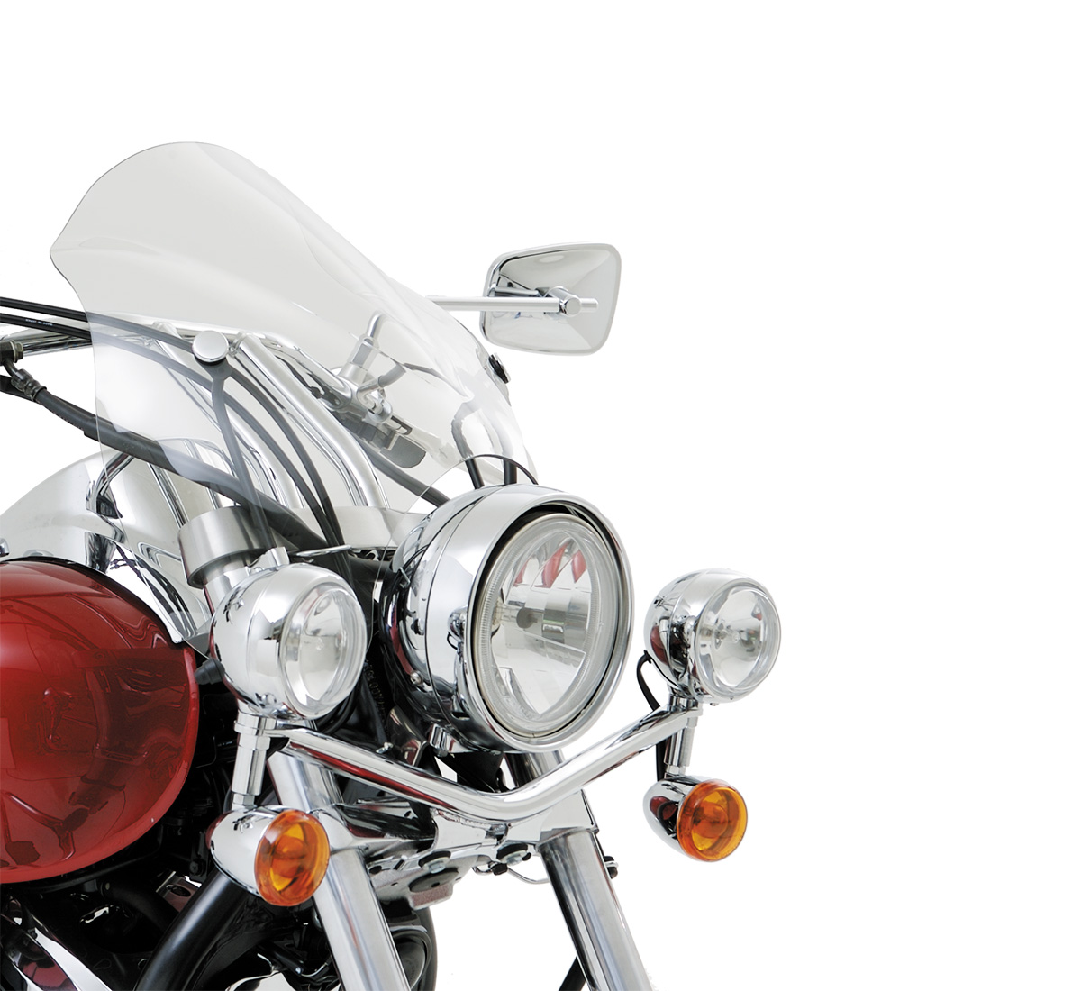 Motorcycle Windshield Café Clear