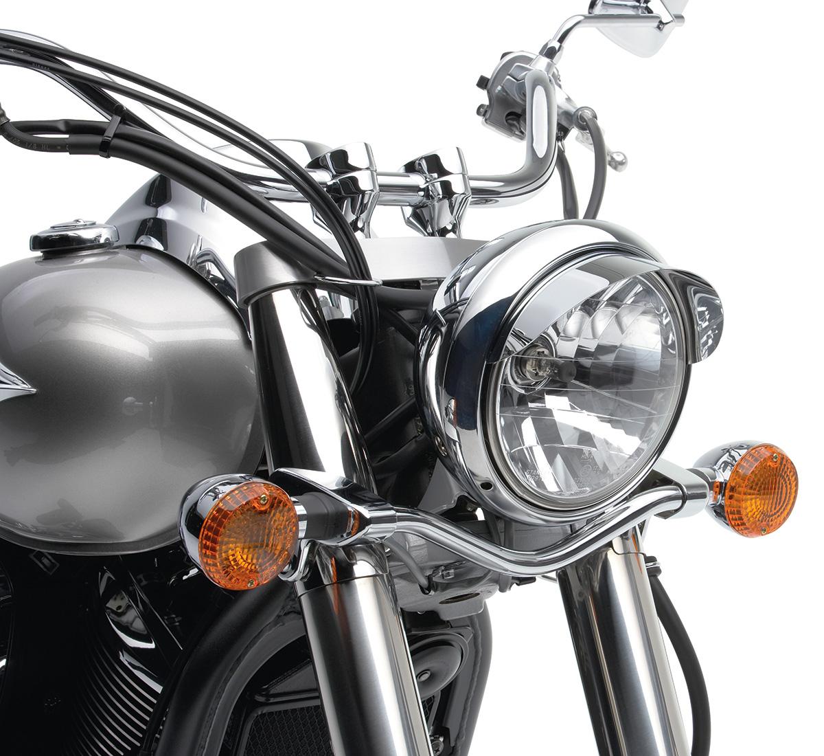 Motorcycle Headlight Visor Chrome