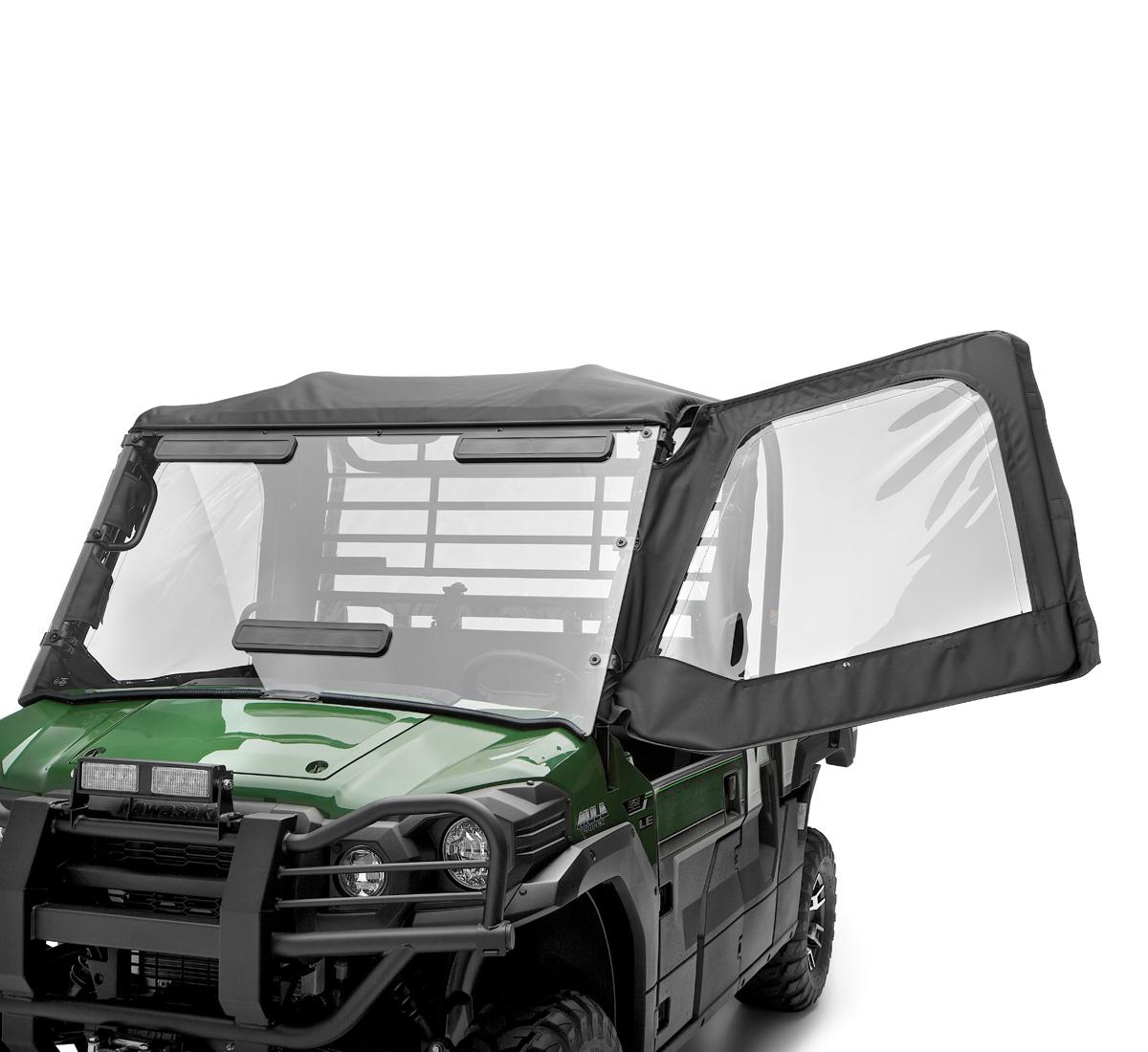 Soft Cab Enclosure Soft Door Set Black  sc 1 st  Kawasaki & Side X Side Soft Cab Enclosure Soft Door Set Black