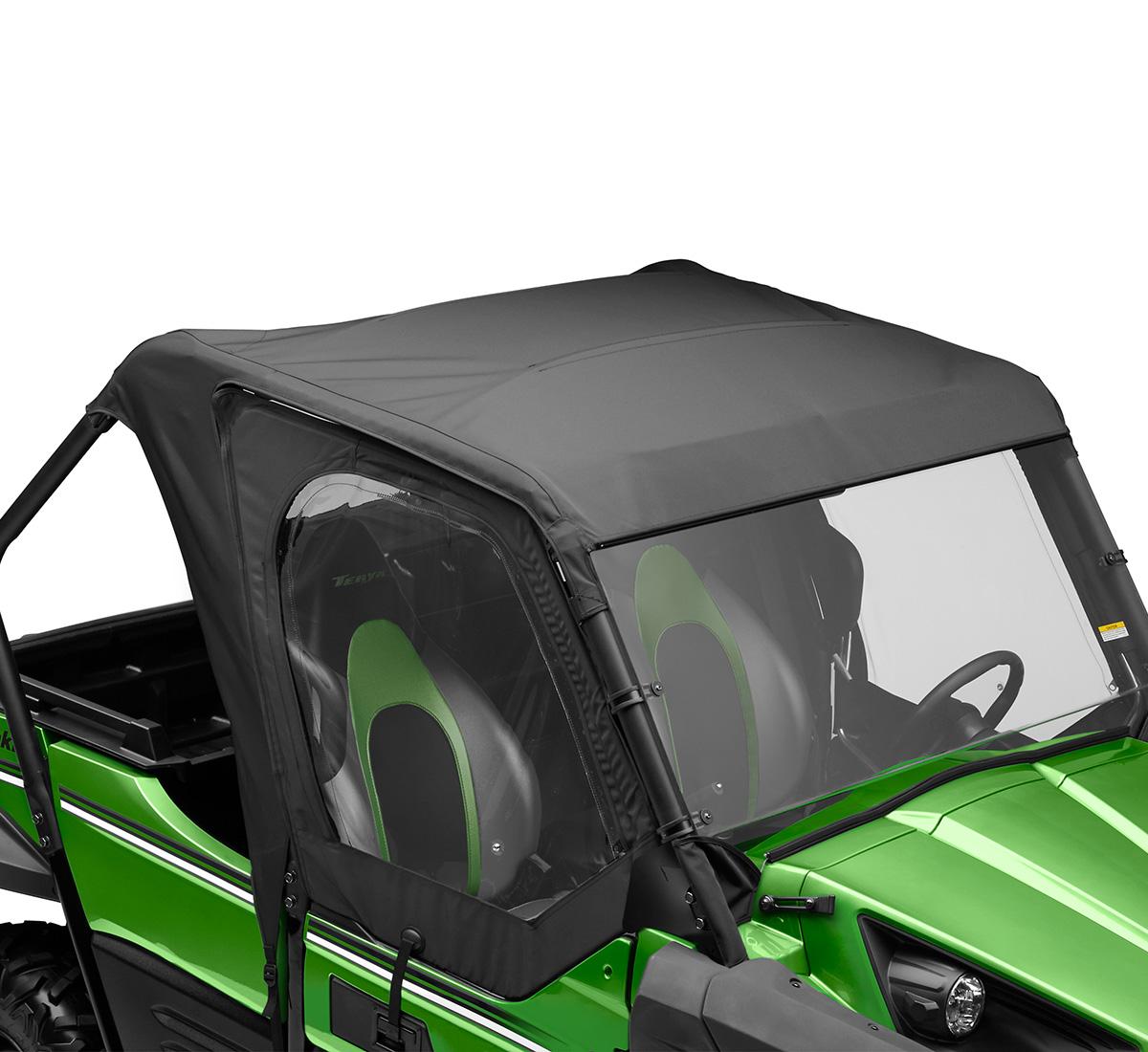 side x side soft cab enclosure  roof and back  black